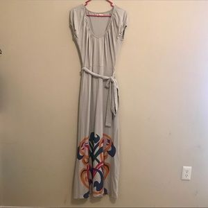 Anthropologie Tulle maxi dress
